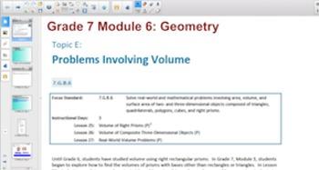 Engage NY Eureka Math 7th Grade Math Module 6 for Smartboards