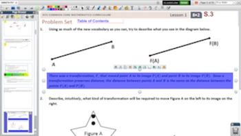 Engage NY Eureka Math 8th Grade Math Module 2 Topic A for Promethean Boards