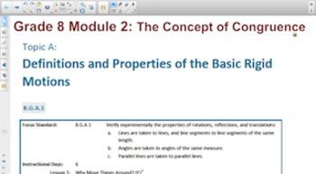 Engage NY Eureka Math 8th Grade Math Module 2 Topic A for
