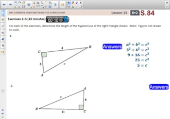 Engage NY Eureka Math 8th Grade Math Module 2 Topic D for Smartboards