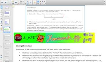 Engage NY Eureka Math 8th Grade Math Module 3 Topic A for Smartboards