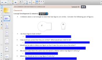 Engage NY Eureka Math 8th Grade Math Module 3 Topic B for Smartboards