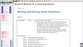 Engage NY Eureka Math 8th Grade Math Module 4 Topic A for