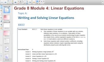 Engage NY Eureka Math 8th Grade Math Module 4 Topic A for Smartboards