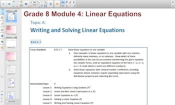 Engage NY Eureka Math 8th Grade Math Module 4 Topic A for Smartboards