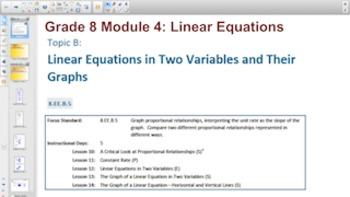 Engage NY Eureka Math 8th Grade Math Module 4 Topic B for Smartboards