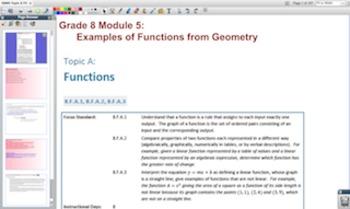 Engage NY Eureka Math 8th Grade Math Module 5 Topic A for Promethean Boards