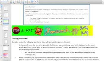Engage NY Eureka Math 8th Grade Math Module 6 Topic A for Smartboards