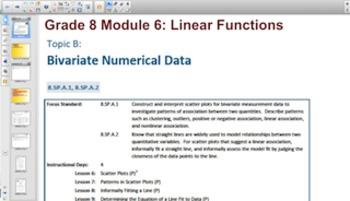 Engage NY Eureka Math 8th Grade Math Module 6 Topic B for Smartboards