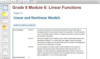 Engage NY Eureka Math 8th Grade Math Module 6 Topic C for Promethean Boards