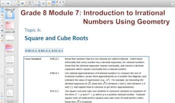 Engage NY Eureka Math 8th Grade Math Module 7 Smartboards