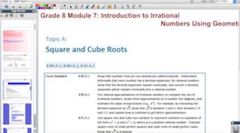 Engage NY Eureka Math 8th Grade Math Module 7 Topic A for Promethean Boards