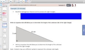 Engage NY Eureka Math 8th Grade Math Module 7 Topic A for Smartboards