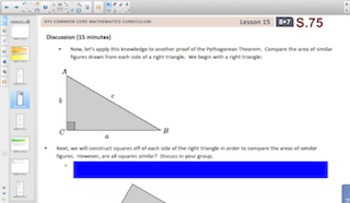 Engage NY Eureka Math 8th Grade Math Module 7 Topic C for Smartboards