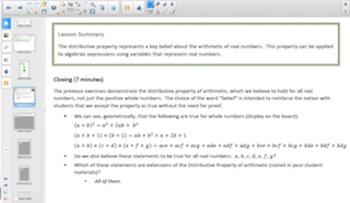 Engage NY Eureka Math Algebra 1 Module 1 Topic B for Smartboards
