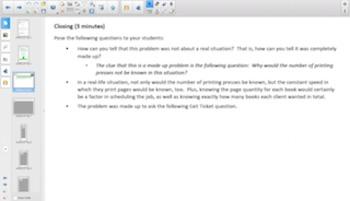 Engage NY Eureka Math Algebra 1 Module 1 Topic D for Smartboards