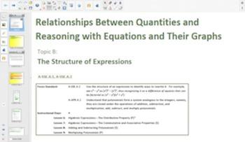 Engage NY Eureka Math Algebra 1 Module 1 for Smartboards