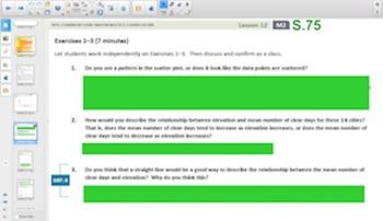 Engage NY Eureka Math Algebra 1 Module 2 Topic D for Smartboards