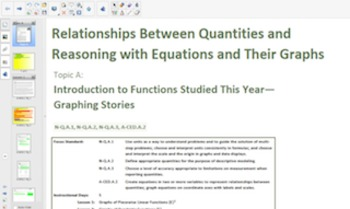 Engage NY Eureka Math Algebra 1 Module 3 Topic A for Smartboards