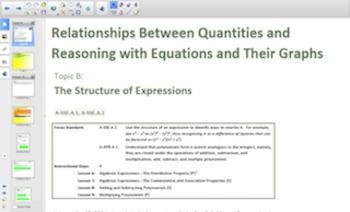 Engage NY Eureka Math Algebra 1 Module 3 for Smartboards