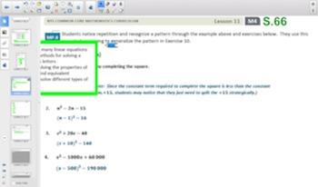 Engage NY Eureka Math Algebra 1 Module 4 Topic B for Smartboards