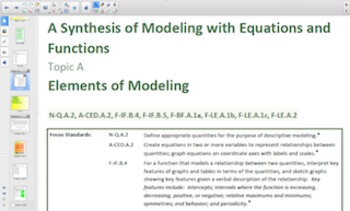 Engage NY Eureka Math Algebra 1 Module 5 Topic A for Smartboards