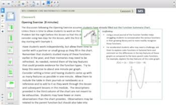 Engage NY Eureka Math Algebra 1 for Smartboards