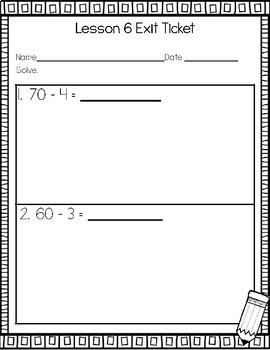Engage NY/Eureka Math Exit Ticket Workbook 2nd Grade Module 1