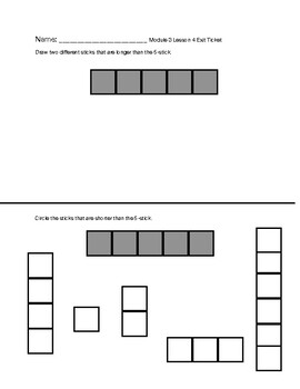 Engage NY / Eureka Math Exit Tickets Module 3 Lessons 1-7