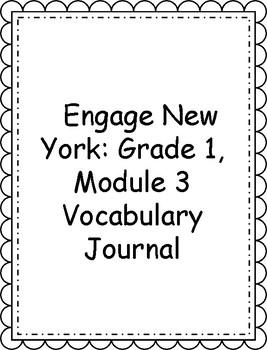 Engage NY/Eureka Math Grade 1, Module 3 Vocabulary Journal