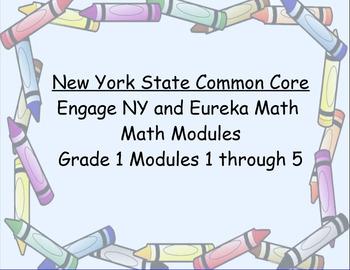 Engage NY, Eureka Math, Grade 1 Modules 1-5