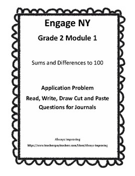 Engage NY Grade 2 M1 Application Problems Cut and Paste