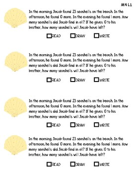Engage NY / Eureka Math Grade 2 M4 Application Problem RDW Journal Questions