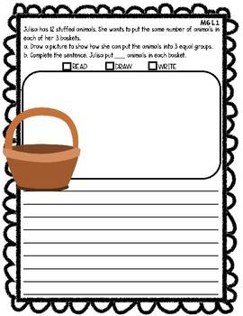 Engage NY Math Grade 2 M6 Application Problem RDW Journal Questions