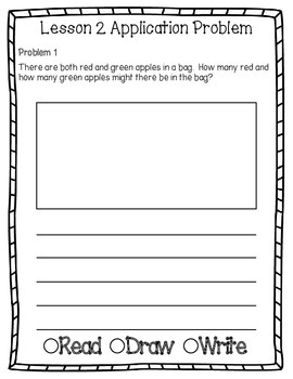 Engage NY Eureka Math Grade 2 Module 1 Application Problems Journal OLD VERSION