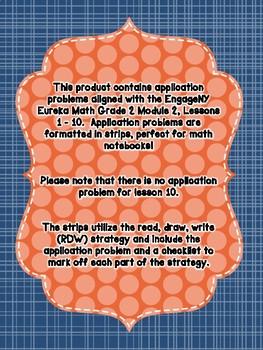 Engage NY Eureka Math Grade 2 Module 2 Application Problem Strips