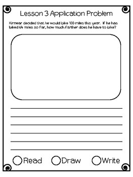 Engage NY Eureka Math Grade 2 Module 3 Application Problems Journal