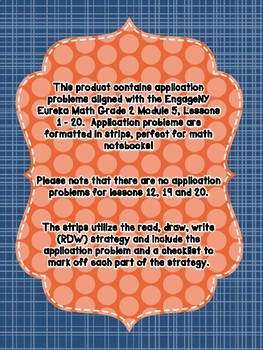 Engage NY Eureka Math Grade 2 Module 5 Application Problem Strips