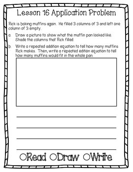 Engage NY Eureka Math Grade 2 Module 6 Application Problems Journal V2.0