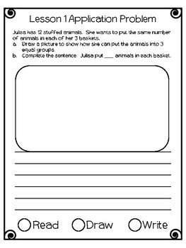 Engage NY Eureka Math Grade 2 Module 6 Application Problems Journal