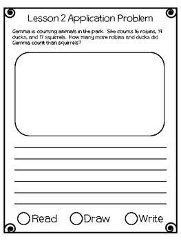 Engage NY Eureka Math Grade 2 Module 7 Application Problems Journal