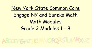 Engage NY, Eureka Math, Grade 2 Modules 1-8