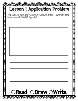 Engage NY Eureka Math Grade 3 Module 1 Application Problems Journal V2.0