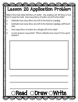 Engage NY Eureka Math Grade 3 Module 2 Application Problems Journal V2.0