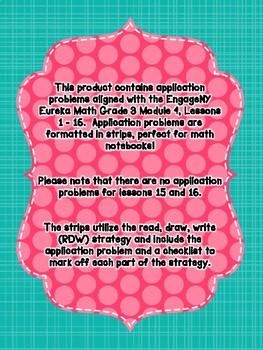Engage NY Eureka Math Grade 3 Module 4 Application Problem Strips