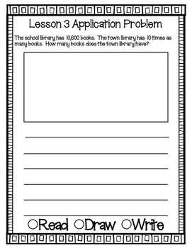 Engage NY Eureka Math Grade 4 Module 1 Application Problems Journal V2.0
