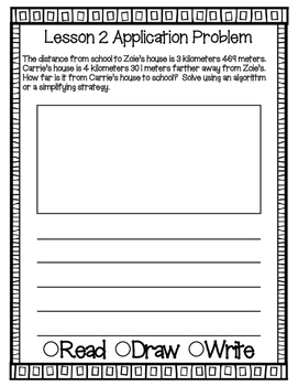 Engage NY Eureka Math Grade 4 Module 2 Application Problems Journal V2.0