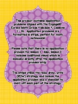 Engage NY Eureka Math Grade 4 Module 4 Application Problem Strips