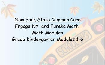 Engage NY, Eureka Math, Kindergarten Modules 1-6