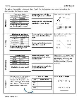 Eureka Math/Engage NY Grade One Module 3 Weekly Homework